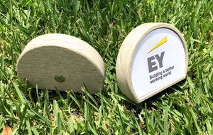 Branded Tee Markers (36) - Magnetic Insert & UV-Printed Metal