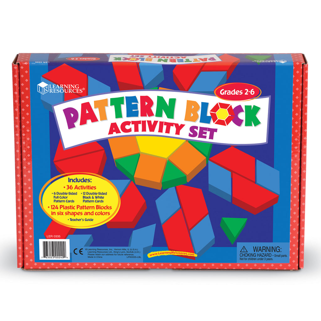 LER0335 (LEARNING R.)  - SET DE JUGUETE, PATTERN BLOCK ACTIVITY PACK