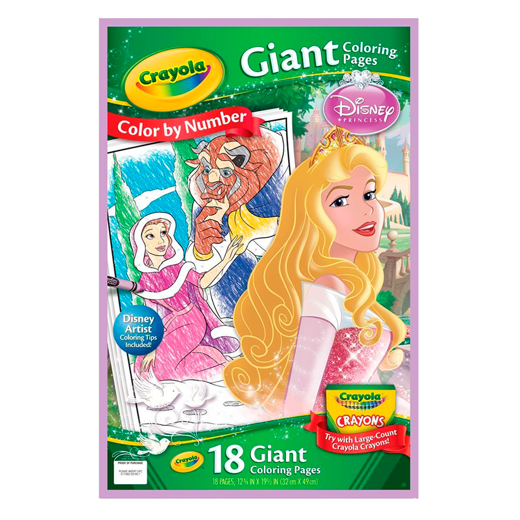 Disney Princess Color By Number Giant Coloring Pages 04-0193