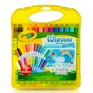 04-5229 (Crayola) - Kits  : Washable Window Markers & Stencil Set