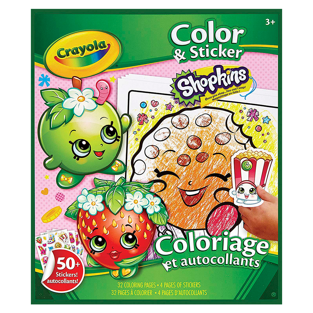 Color 'N Sticker-Shopkins 04-5854