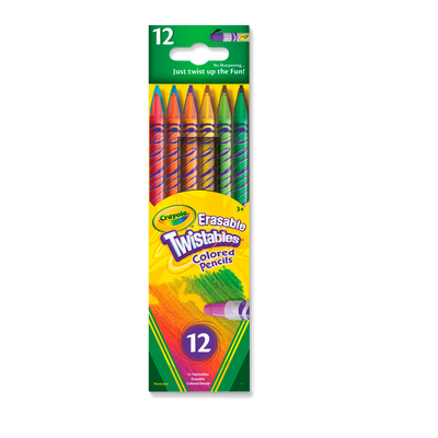 Erasable Twistables Colored Pencils 12 Ct. 68-7508