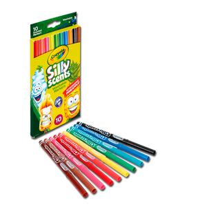 Silly Scents - 10 Ct Slim Markers 58-5071 (Crayola)
