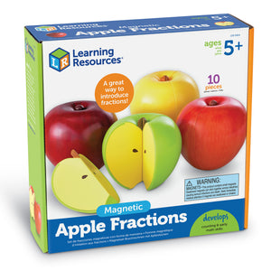 LER0904 (LEARNING R.)  - JUGUETE FRUTAS, MAGNETIC APPLE FRACTIONS