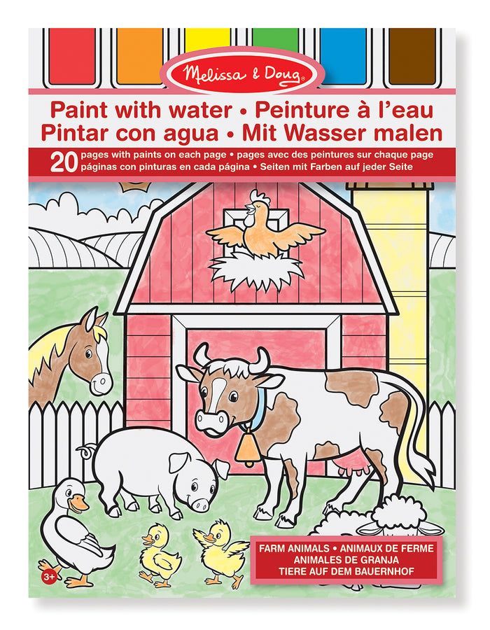 Libro para Colorear - Acuarela : Animales De Granja - Melissa and Doug - 4165