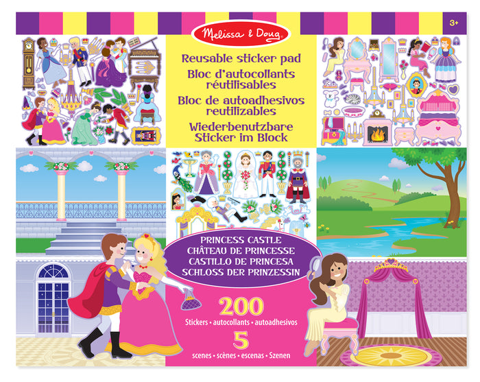 Libro De Stickers Reutilizables : Castillo De Princesa - Melissa and Doug - 4306
