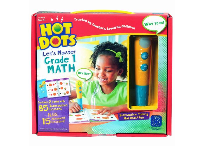 2374 (EDUCATIONAL I.)  - LIBRO , HOT DOTS LET'S MASTER GRADE 1 MATH