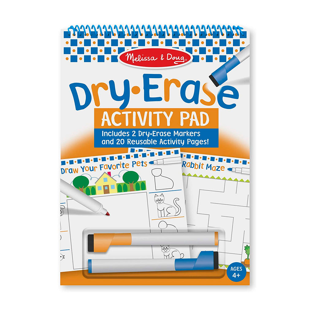 Set de Actividades (20 Págs) - Dry Erase Activity Pad - Melissa and Doug - 2436