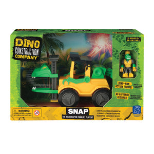 4159 (EDUCATIONAL I.)  - JUGUETE AUTO, SNAP THE VELOCIRAPTOR FORKLIFT