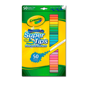 Marcadores Punta Fina - Ultra Limpio (Lavable)  - 50 Ct. Super Tips W Silly Scent 58-5050 (Crayola)