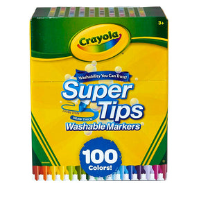 58-5100 (Crayola) - Marcadores lavables SuperTips de 100 colores - Washable Markers Supertips 100 ct.