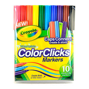 Crayola Specialty Markers - Marcador-10 Ct. Washable Color Clicks Markers 58-8185