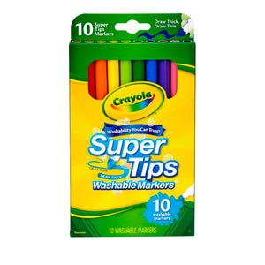 Marcadores Lavables Supertips 10 Colores - Crayola (58-8610)