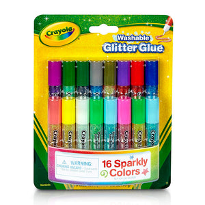 69-4200 (Crayola) - Pegamento: 16 ct. Mini Washable Glitter Glue