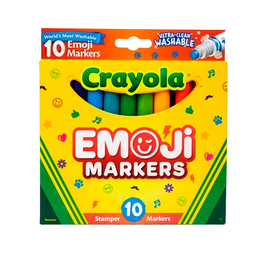 Especiales - Marcadores  - 10 Ct. Ultra-Clean Washable Stampers 58-8148 (Crayola)