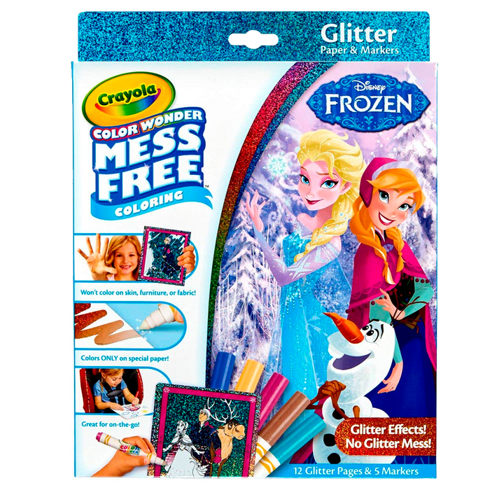 Cw Frozen Glitter Clbk With Markers 75-2449