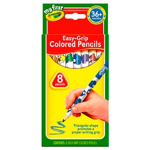 Mi Primer Caja De 8 Lapices - Easy Grip Colored Pencils 81-1334