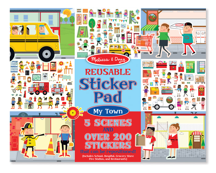 Libro De Stickers Reutilizables : Mi Ciudad - Melissa and Doug - 9114