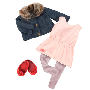 BD30212Z (OUR GENERATION) - ACCESORIOS DE MUÑECAS,  Jean Jacket & Fur Collar