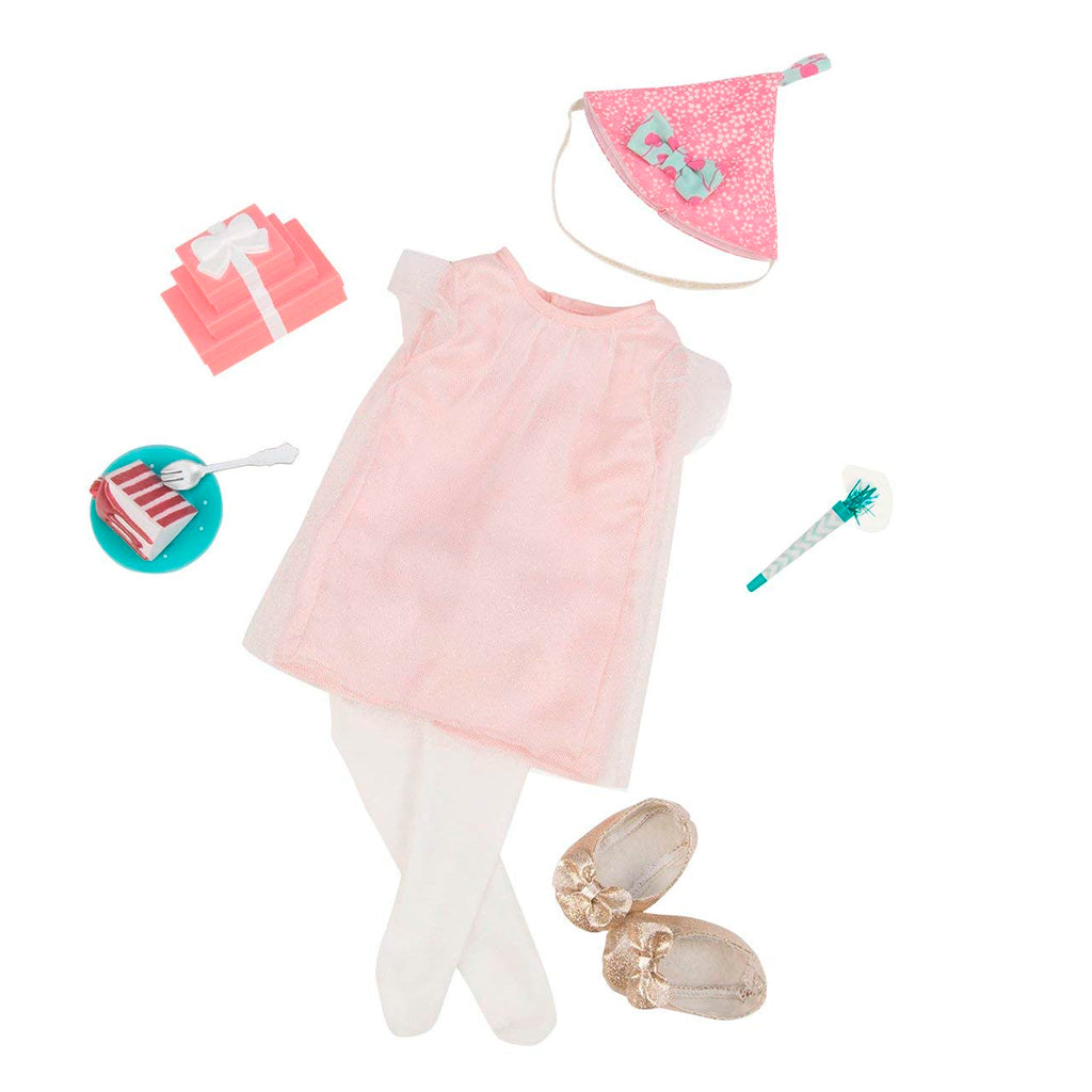 BD30229Z (OUR GENERATION) - ACCESORIOS DE MUÑECAS,  Deluxe B-Day Outfit