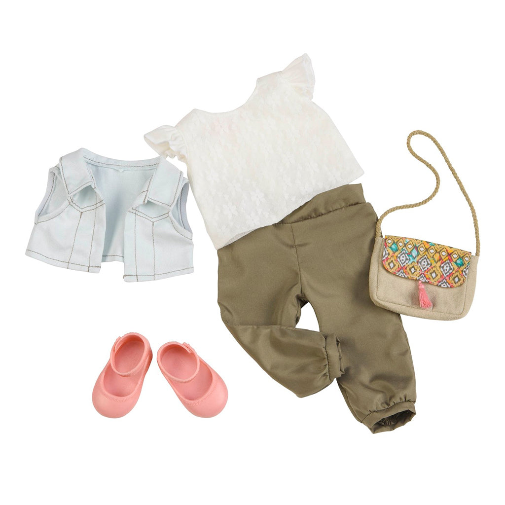 BD30237Z (OUR GENERATION) - ACCESORIOS DE MUÑECAS,  Pants and lace top outfit
