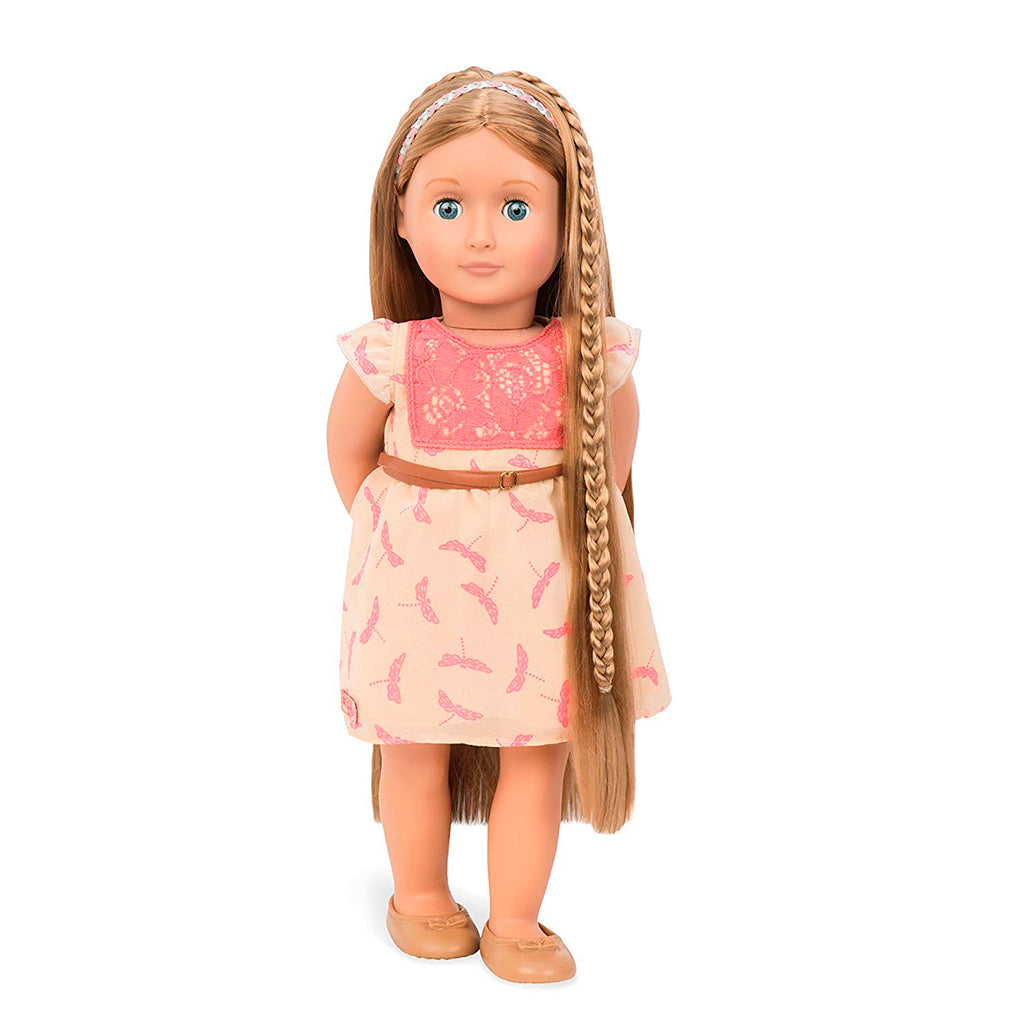 BD31073Z (BATTAT) - MUÑECAS, HAIR GROW DOLL, LIGHT BROWN- Portia