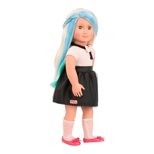 BD31084Z (BATTAT) - MUÑECAS, Chalk Hair Deco Doll -Amya