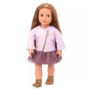 BD31101Z (BATTAT) - MUÑECAS, Doll w Pink Leather Jacket, Vienna