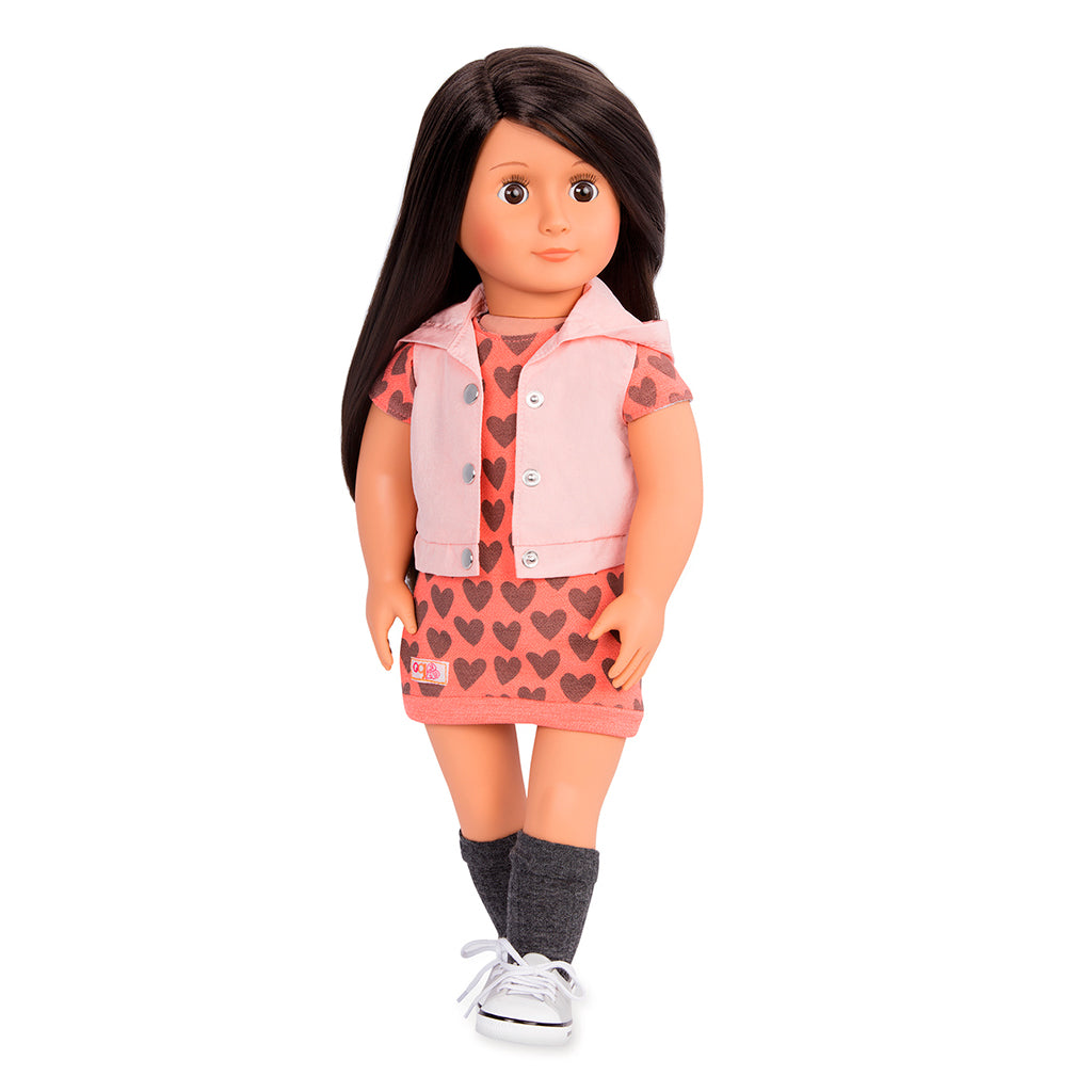 BD31154Z (OUR GENERATION) - MUÑECA,  Doll with Hoodie & Dress - Lili