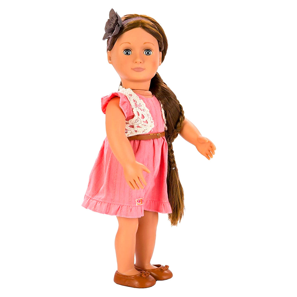 BD37017Z (BATTAT) - MUÑECAS, HAIR GROW DOLL, BRUNETTE- PARKER