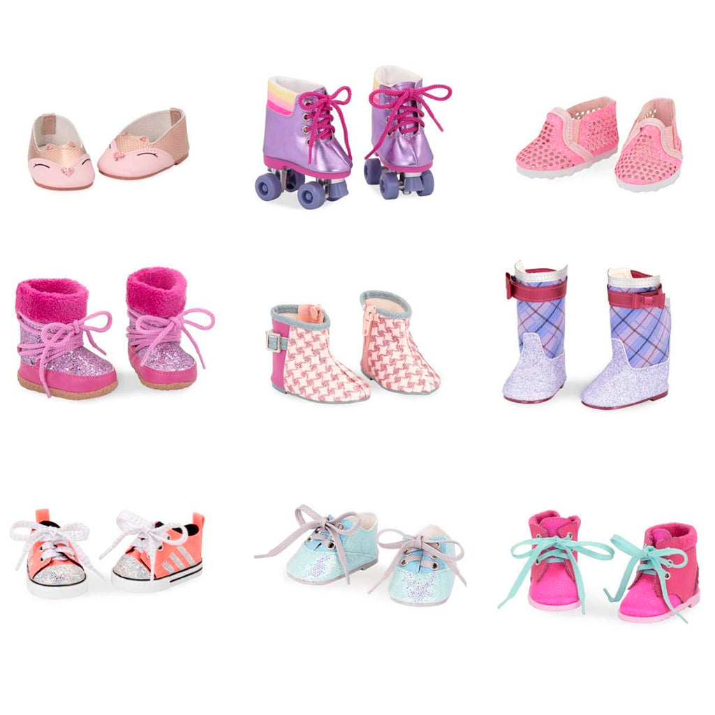 "BD37419GTZ (BATTAT) - ACCESORIOS DE MUÑECAS, 18"" Doll Shoes Assortment"
