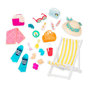 BD37444Z (OUR GENERATION) - SET DE JUGUETES,  Deluxe Beach Set