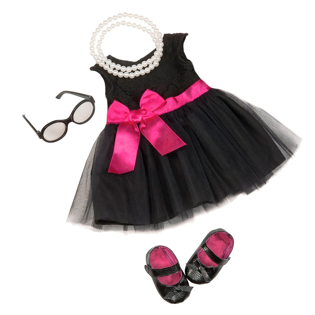 BD60003Z (OUR GENERATION) - ACCESORIOS DE MUÑECAS,  Audrey Dress & Pearls Deluxe Outfit