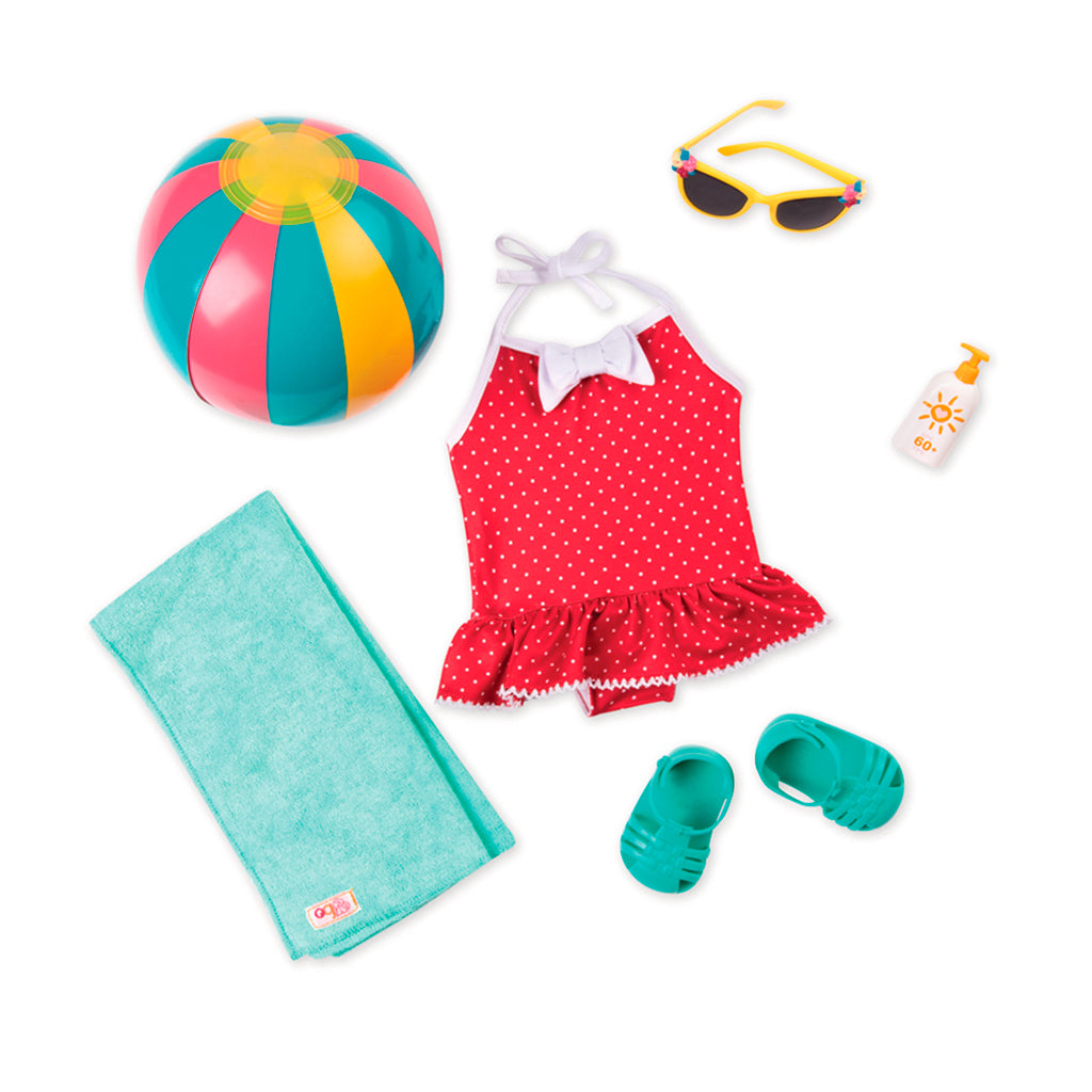 BD60044Z (OUR GENERATION) - ACCESORIOS DE MUÑECAS,  Retro Beach Outfit