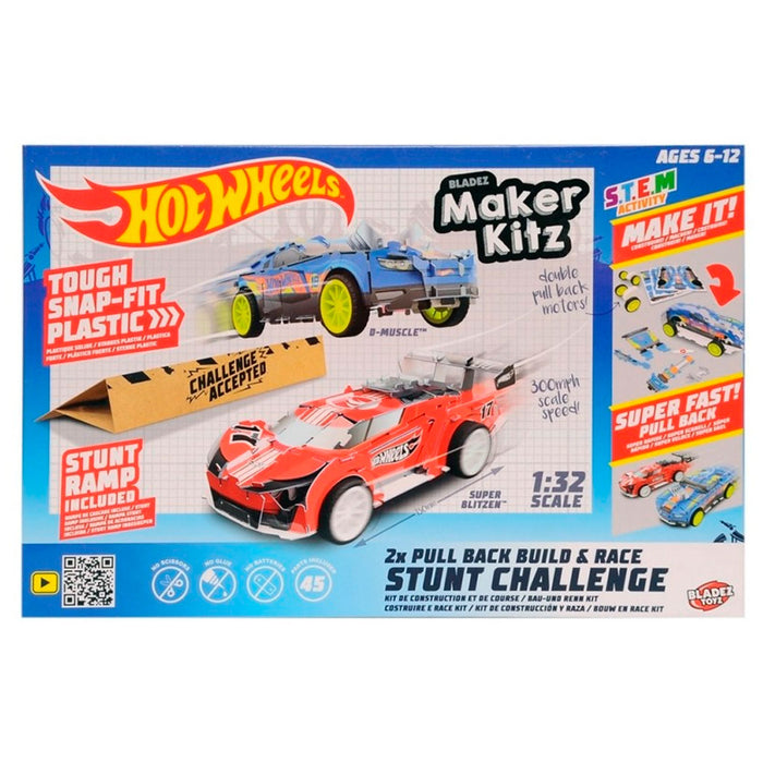 Hot wheels Maker Kitz Build & Race Kit - Twin Pack - (Mau Toys) BTHW-M02