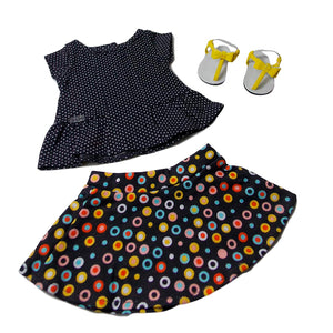 FNP83 (AG) Dot Skirt Outfit