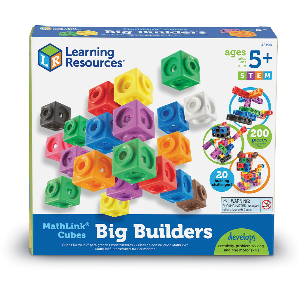 LER9291 (LEARNING R.)  - ARTICULO ESCOLAR, MATHLINK CUBES BIG BUILDERS