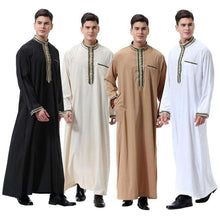 Load image into Gallery viewer, Mens' Long Embroidered Robe 'Dubai'