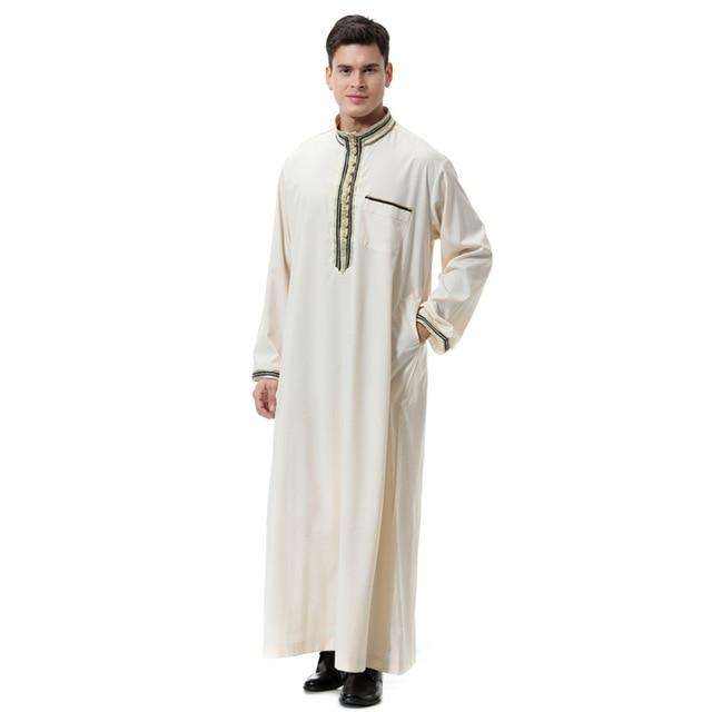 Mens' Long Embroidered Robe 'Dubai'