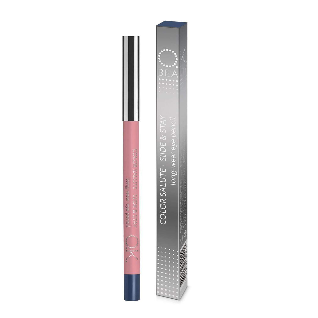 OK BEAUTY COLOR SALUTE SLIDE & STAY LONG-WEAR EYE PENCIL COBALT OK BEAUTY