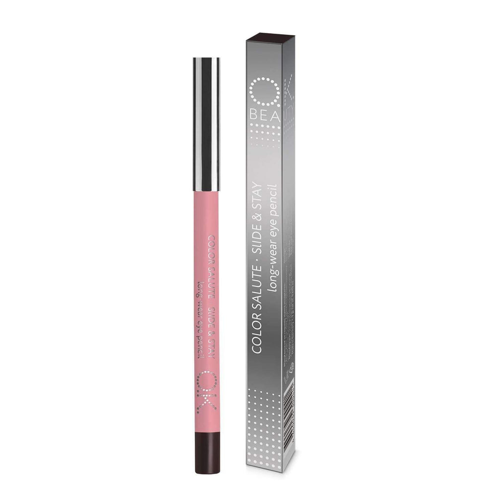OK BEAUTY COLOR SALUTE SLIDE & STAY LONG-WEAR EYE PENCIL LOON OK BEAUTY