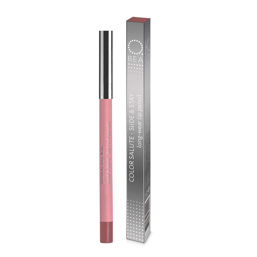 OK BEAUTY COLOR SALUTE SLIDE & STAY LONG-WEAR LIP PENCIL HAPPY END OK BEAUTY