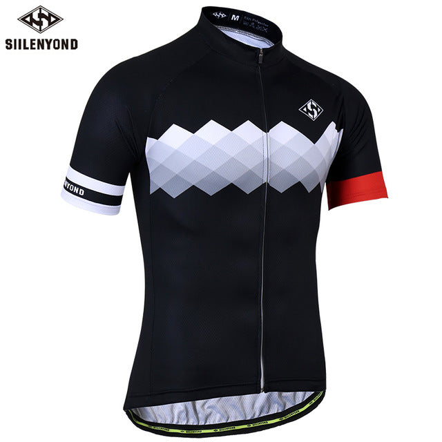 SIILENYOND Quick Dry Cycling Jersey Summer Short Sleeve MTB Bike Cycling  Clothing Ropa Maillot Ciclismo Racing 1ac689b0a