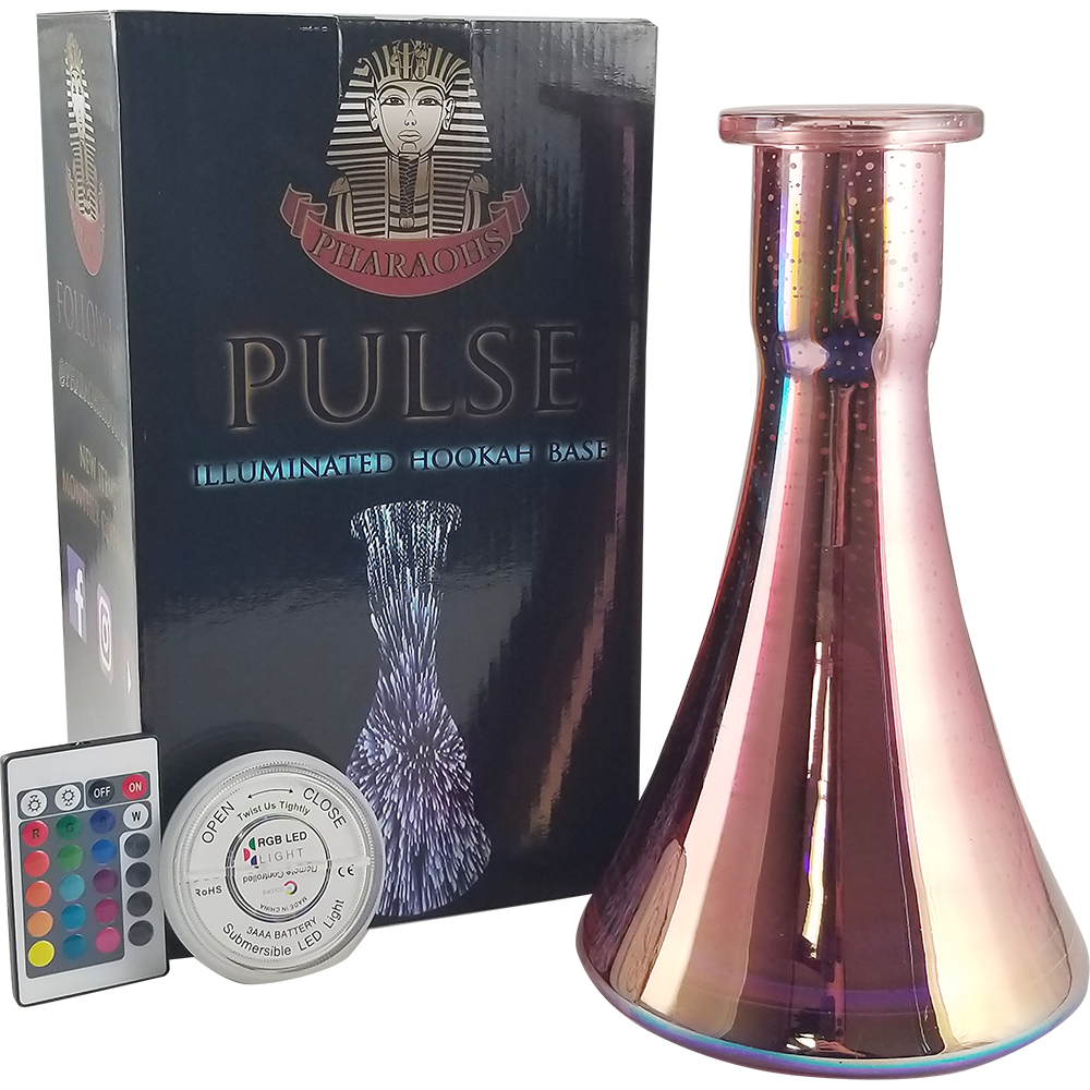 Pulse Illuminated Hookah Base - Ember - Pharaohs Hookahs