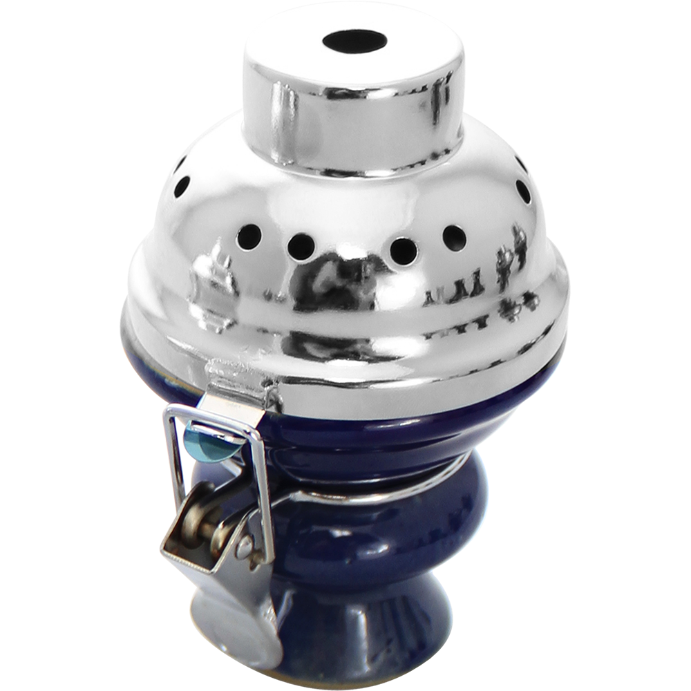 Ceramic Bowl with Metal Cover and Screen - Pharaohs Hookahs