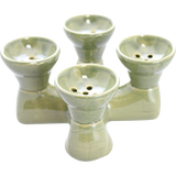 Traditional Ceramic Quad Bowl - Pharaohs Hookahs