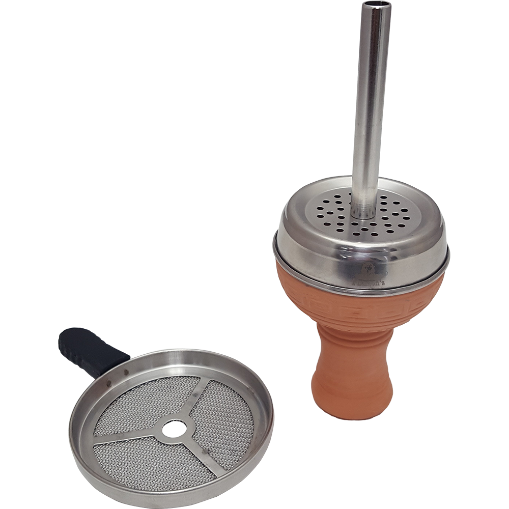 Clay Bowl with Heat Management Screen - Pharaohs Hookahs