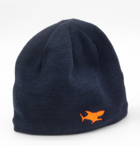 Bonnet requin brodé orange