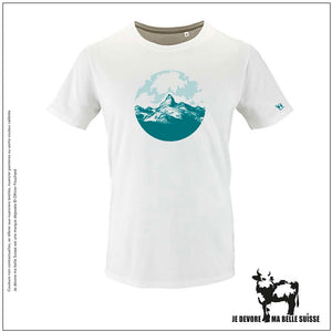 Tee shirt Homme blanc alpage JDMB Suisse