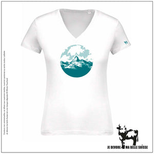Tee shirt Femme blanc alpage JDMB Suisse